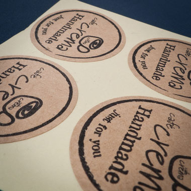 Sticker: Standard Size Brown Craft Paper