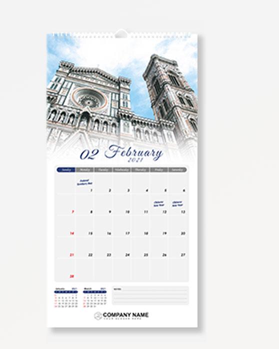 Wire-O Wall Calendar - Size B