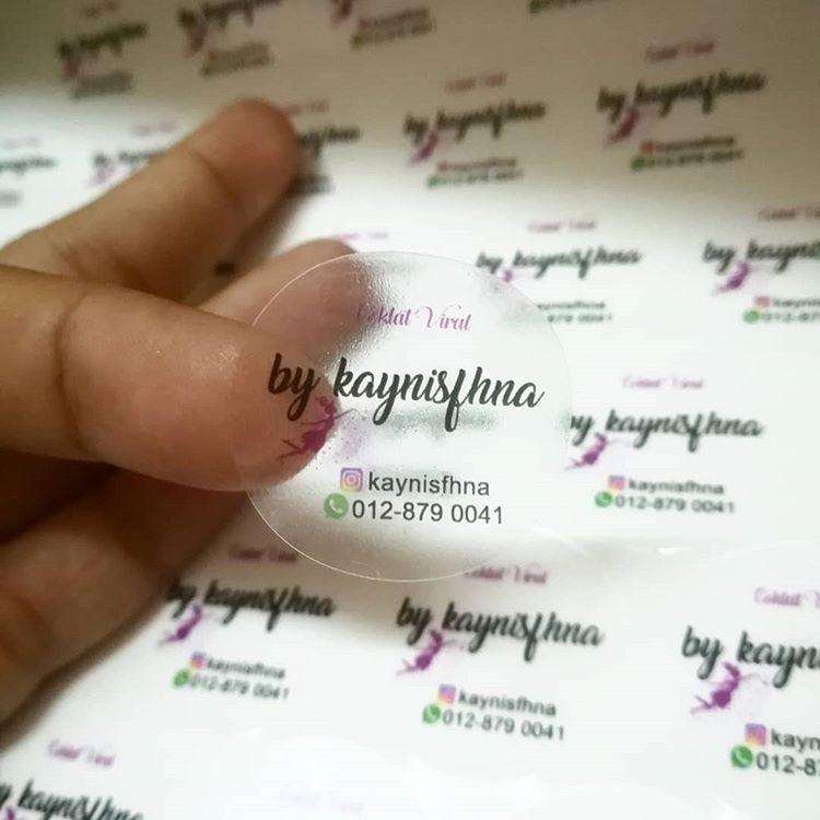 Sticker: Transparent + 4Colour + White