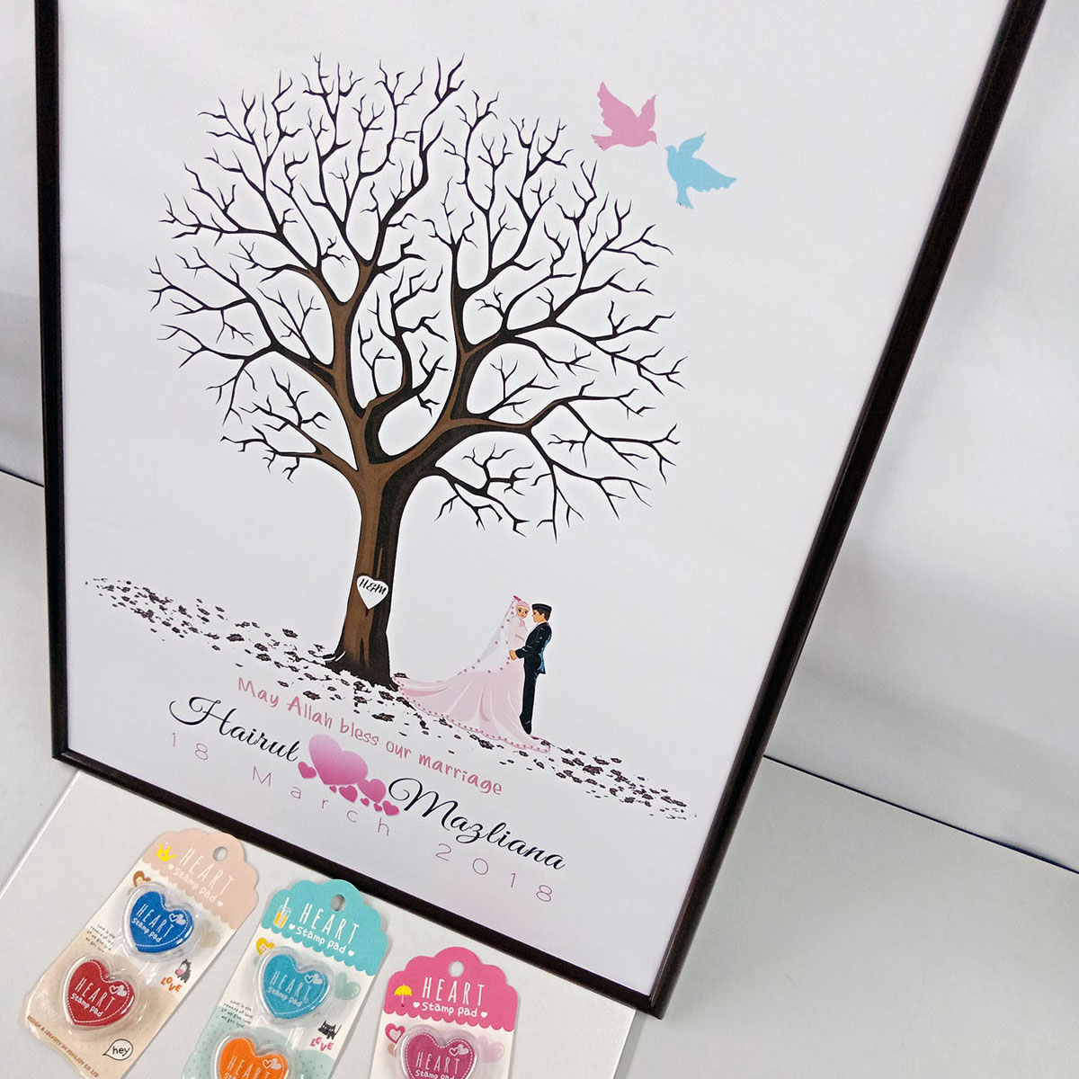 Finger/Thumbs print Guestbook
